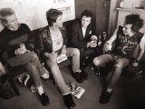 Sex Pistols: Paul Cook, Steve Jones, Sid Vicious and Johnny Rotten, March 1977 Fotoprint