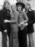 Abba, Benny Frida Bjorn and Anna, Competed in the 1974 Eurovision Song Contest Fotografiskt tryck