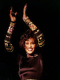 Whitney Houston at Her Concert in Dublin Fotografisk tryk