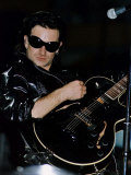 Bono of U2 on Stage at Celtic Park in Glasgow, 1992 Photographic Print