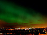 Northern Lights Hanging Over Glasgows West End Photographic Print