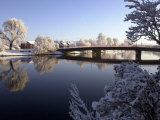 Winter Scene on the River Lagan Belfast, the Heaviest Snowfall in 18 Years, December 2000 Photographic Print