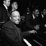 Count Basie Jazz Pianist, at Photocall at the Royal Festival Hall, April 1957 Photographic Print