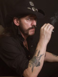 Lemmy, Hard Rock Band Motorhead, October 2002 Fotografisk trykk