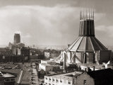 Two Cathedrals, Anglican and Catholic, Liverpool, March 1967 Photographic Print