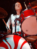 Meg White on Drums, the White Stripes Performing at the Carling Academy, Glasgow, April 2003 Photographic Print