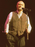 Phil Collins on Stage Photographic Print