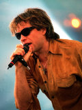 Bon Jovi Pop Group in Concert at Ibrox Football Stadium Glasgow Photographie