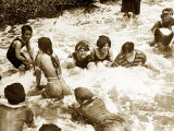 Bathers Playing in the Sea 1920s Photographic Print