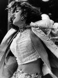 Madonna on Stage at Live Aid Concert 1985, Jfk Stadium Philadelphia Stampa fotografica