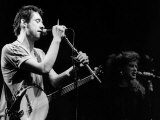 Shane Macgowan Irish Pop Singer the Pogues on Stage, 1988 Fotografická reprodukce