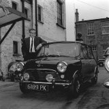 Peter Sellers Has Had a Few Extra Improvements Made to His Mini-Cooper in 1963 Photographic Print