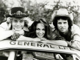 Dukes of Hazzard Television Programme John Schneider, Catherine Bach and Tom Wopat Fotografie-Druck