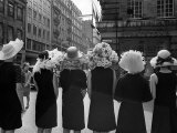 Mad as a Hatter: Mannequins Modelling Hats for the 1966 Royal Ascot Festival, May 1966 Photographic Print