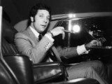 Tom Jones on His Way to Luton in a Car Photographic Print