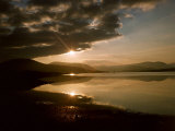 Evening Over Loch Ba Showing the Mountains of Glencoe Scotland Photographic Print