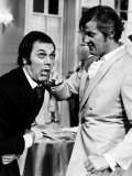 Tony Curtis and Roger Moore Ham It up on the Set of the Television Series the Persuaders Fotografisk tryk