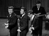 Cliff Richard and the Shadows at the Dress Rehearsal of the Royal Variety Show, October 1962 Fotografisk tryk