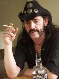 Lemmy Smoking Cigarette, Hard Rock Band Motorhead, October 2002 Photographic Print