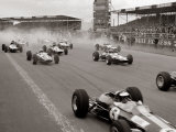 Start of the British Grand Prix at Siverstone, 1965 Lámina fotográfica