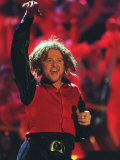 Mick Hucknall of Simply Red Performing at the Brit Awards Fotografie-Druck