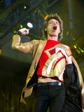 Mick Jagger at Twickenham Tonight, August 2003 Fotografie-Druck
