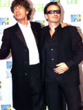 MTV Music Awards in Ireland U2 Singer Bono and Rolling Stones Singer Mick Jagger, November 1999 Photographic Print