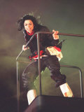 Michael Jackson at the Brit Awards 1996 Where He Won a Special Award for Artist of a Generation Photographic Print