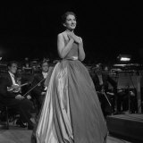 Maria Callas Singing at the Royal Festival Hall, 1959 Fotografie-Druck