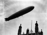 The Graf Zeppelin Airship in London Photographic Print