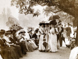 Ladies of Edwardian Society Take a Stroll in Hyde Park, 1905 Photographic Print