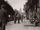 The Bowery, Noted as a Home for New York's Alcoholics, Prostitutes and the Homeless 1940s Fotografie-Druck