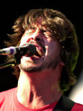 Dave Grohl, Foo Fighters Lead Singer, Playing at Big Day out at Glasgow Green, August 2003 Fotografická reprodukce