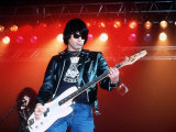 The Ramones, Rock Group, Playing at the Reading Rock Festival, August 1988 Photographic Print