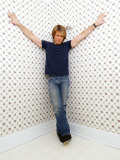 American Rock Star Jon Bon Jovi at His Home in New Jersey, New York, March 2004 Photographie