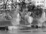 A Frozen Fountain in Marble Arch, London Photographic Print
