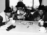 Run DMC American Pop Group Rap Drinking Tea, 1986 Photographie