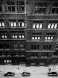 Window Cleaner Looks Down from the Roof of the Central Hotel in Hope Street, Glasgow Photographic Print