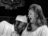Joan Sims with Sid James in a Scene from the Carry on Film Carry on Henry, October 1970 Photographie