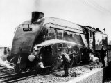 The Mallard Steam Train, World Record Holder for Steam Locomotives of 126 MPH in 1938 Lámina fotográfica