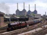 Princess Elizabeth Steam Train Steaming in to Victoria Station Stampa fotografica