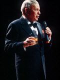 Frank Sinatra Sings in Concert with Drink in Hand, 1990 Photographic Print