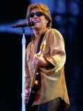Bon Jovi Pop Group in Concert at Ibrox Football Stadium Glasgow Fotografisk tryk