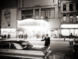 Night Time on Broadway, New York, January 1964 Photographic Print