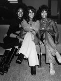The Supremes the Girl Singing Group Arriving at Heathrow Airport Tuesday the 9th of, November 1971 Fotografisk tryk