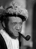 Sid James Plays Henry VIII, Carry on Henry Film Filming at Pinewood Studios, 1970 Fotografie-Druck