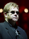 Elton John in Concert on His World Tour for His Firet Night in the UK at Wembley Arena, July 2004 Photographic Print