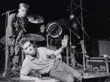 The Smiths L-R Andy Rouke, Mike Joyce (Drums), Johnny Marr and Morrissey (Centre), March 1984 Fotografická reprodukce