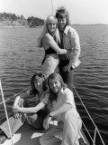 Abba Swedish Pop Band, April 1974 Fotoprint
