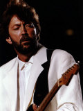 Eric Clapton at Wembley Photographic Print